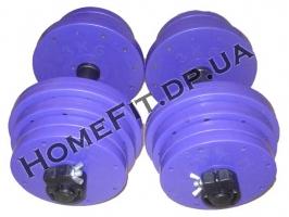Гантели домашние и гриф - комплект 35 кг