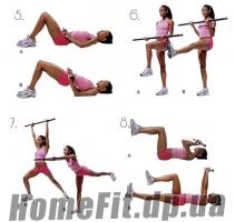 БодиБары PS 3-4-5-6-7-8 кг (Гимнастическая палка): Упражнения 2