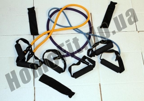 Эспандеры Resistance Bands от 2 до 23 кг с ручками: фото 1