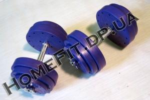 Набор Титан 45кг: гантели разборные по 20 кг с хромированным грифом