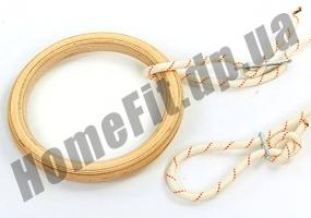 Деревянные кольца 4457 для гимнастики и кроссфита:фото 1