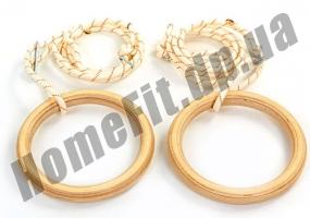Деревянные кольца 4457 для гимнастики и кроссфита:фото 2