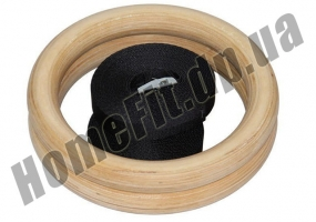 Кольца для кроссфита и гимнастики деревянные фото 2