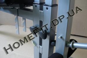Регулируемые спинка и сиденье - многофунциональный тренажер-скамья для дома SUB1124