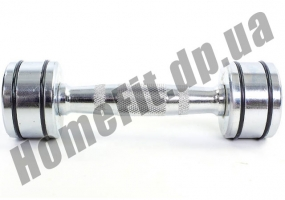 Неразборные гантели DB5204 (хромированные) 1 кг, пара фото 3