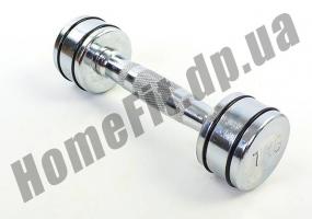 Неразборные гантели DB5204 (хромированные) 1 кг, пара фото 1