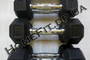 Профессиональные гантели для тренажерного зала (горка 1-10кг)