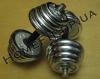 Гантели наборные хром+резина 2 шт по 13,5 кг
