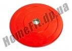 Блин (диск) бамперный Bumper Plates 45 см 5 кг для кроссфита фото 1