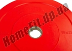 Блин (диск) бамперный Bumper Plates 45 см 5 кг для кроссфита фото 3