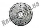 Блин литой PT-S для штанги 1 кг (26/31/52 мм)