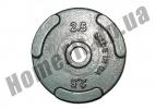 Блин литой PT-S для штанги 2,5 кг (26/31/52 мм)