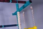 Детский гимнастический комплекс VD «Balu» - крепление каната и веревочной лестницы