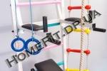 Детское навесное оборудование: канат, лестница веревочная, кольца на Шведской стенке VD «Junior»