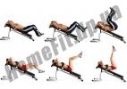 Скамья PRO для пресса (римский стул) и гиперэкстензии (тренажер спины) фото 8