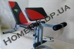 Тренажер-скамья для жима и пресса SUB1124 в Украине