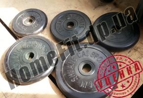 125 кг блинов и гантели 2х20 кг (УЦЕНКА - Б/У) купить в Украине