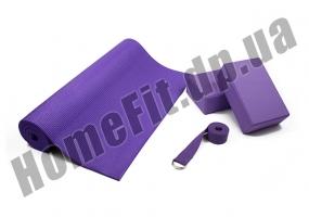 Набор для йоги Yoga Set YS-2 (коврик, 2 блока + ремень): фото 4