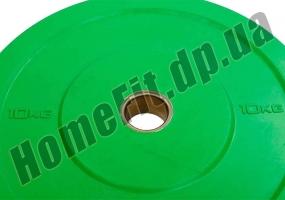 Блин (диск) бамперный Bumper Plates 45 см 10 кг для кроссфита фото 2