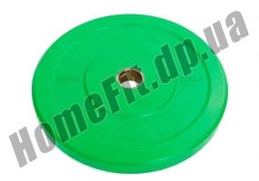 Блин (диск) бамперный Bumper Plates 45 см 10 кг для кроссфита фото 1