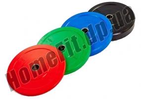 Блин (диск) бамперный Bumper Plates 45 см 15 кг для кроссфита фото  3