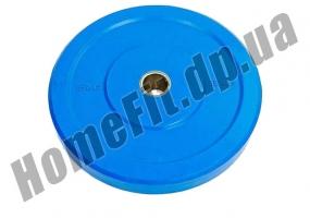 Блин (диск) бамперный Bumper Plates 45 см 15 кг для кроссфита фото 1