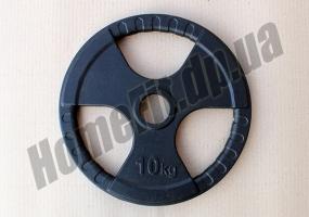 Блин литой 10 кг для штанги (52 мм) серии SL: фото 1