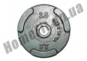 Блин литой PT-S для штанги 2,5 кг (26/31/52 мм: фото 1