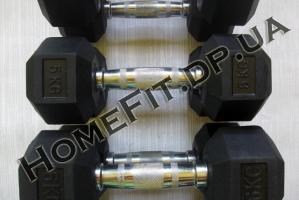 Гантели для тренажерного зала - ряд от 1 до 10 кг