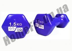 Гантели для фитнеса GoDo 1,5 кг: фото 8