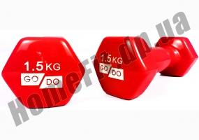 Гантели для фитнеса GoDo 1,5 кг: фото 10