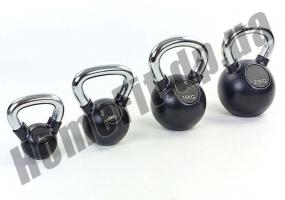 Гиря ZS для кроссфита и функционального тренинга от 2 до 36 кг (обрезиненная): фото 3