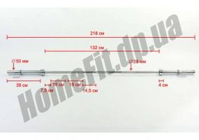 Гриф для штанги олимпийский 2,2 м до 315 кг: фото 10
