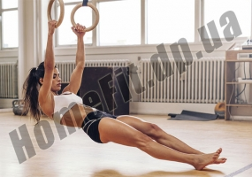 Кольца для кроссфита и гимнастики деревянные фото 6