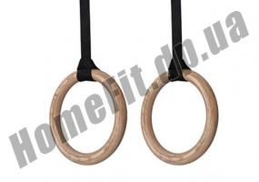Кольца для кроссфита и гимнастики деревянные фото 1