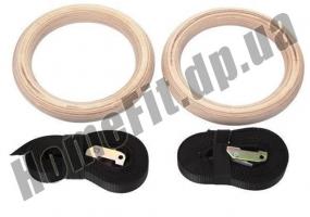 Кольца для кроссфита и гимнастики деревянные фото 3