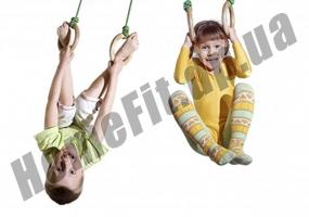 Кольца для гимнастики детские деревянные 4456: фото 1