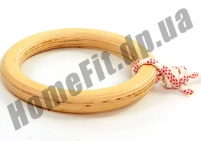 Кольца для гимнастики детские деревянные 4456: фото 5