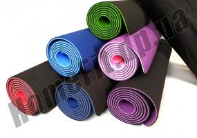 Коврик для йоги TPE, фитнеса, пилатеса, йогамат, фото 14
