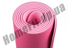 Коврик для йоги TPE, фитнеса, пилатеса, йогамат, фото 8