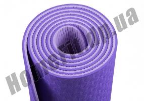 Коврик для йоги TPE, фитнеса, пилатеса, йогамат, фото 9