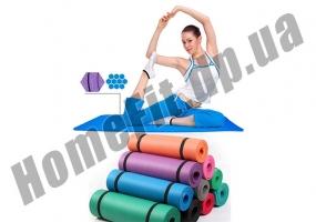 Коврик из вспененного каучука NBR для фитнеса, йоги и пилатеса фото 5