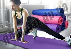 Коврик из вспененного каучука NBR для фитнеса, йоги и пилатеса фото 6