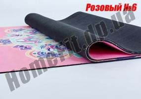 Коврик ZS для йоги из замши с каучуком: фото 4