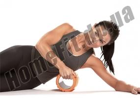Валик массажный Grid Roller R2 33 см для йоги, фитнеса, пилатеса: фото 1