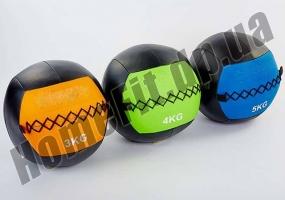 Медицинский набивной мяч (медбол, волбол) Wall Ball от 3 до 10 кг: фото 1