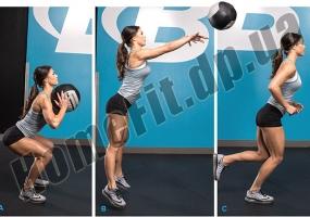 Медицинский набивной мяч (медбол, волбол) Wall Ball от 3 до 10 кг: фото 10