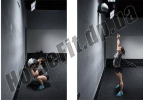 Медицинский набивной мяч (медбол, волбол) Wall Ball от 3 до 10 кг: фото 9