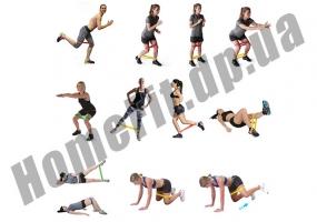 Резинки для тренировок и фитнеса MINI BANDS - набор из 3 шт: фото 17