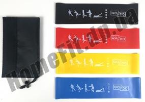 Резинки для фитнеса широкие GoDo Wide 7,5 см 4 шт: фото 1